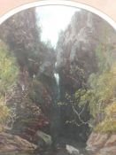 A pair of oil paintings attributed to George W Pettitt, Stanley Ghyll, Eskdale and Upper Fall,