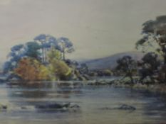 A watercolour, Fred Tucker, Lakes landscape, signed, 13.5in x 20.5in