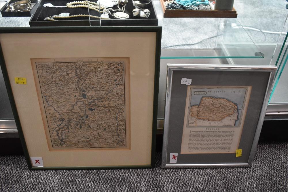 Lot 457 - Two Antiquarian Maps, Norfolk/Suffolk interest. One depicting the Norfolk-Suffolk border around