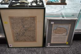 Two Antiquarian Maps, Norfolk/Suffolk interest. One depicting the Norfolk-Suffolk border around