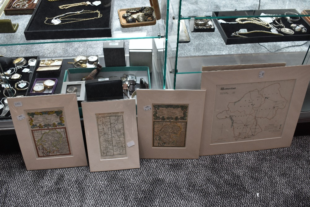 Lot 456 - A small selection of Westmorland maps, in card mounts. (4)