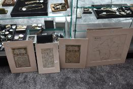 A small selection of Westmorland maps, in card mounts. (4)