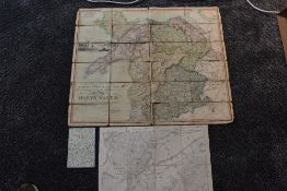 Folding Maps. North Wales interest. J. & A. Walker - To Lieut. General the Most Honorable the