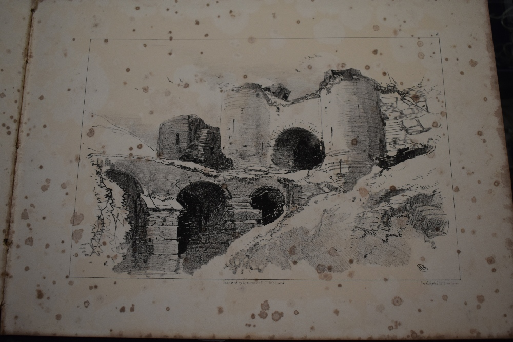 Lot 405 - Art. Bright's Advanced Landscape Drawing Book for 1845. No title page or publishing information. A