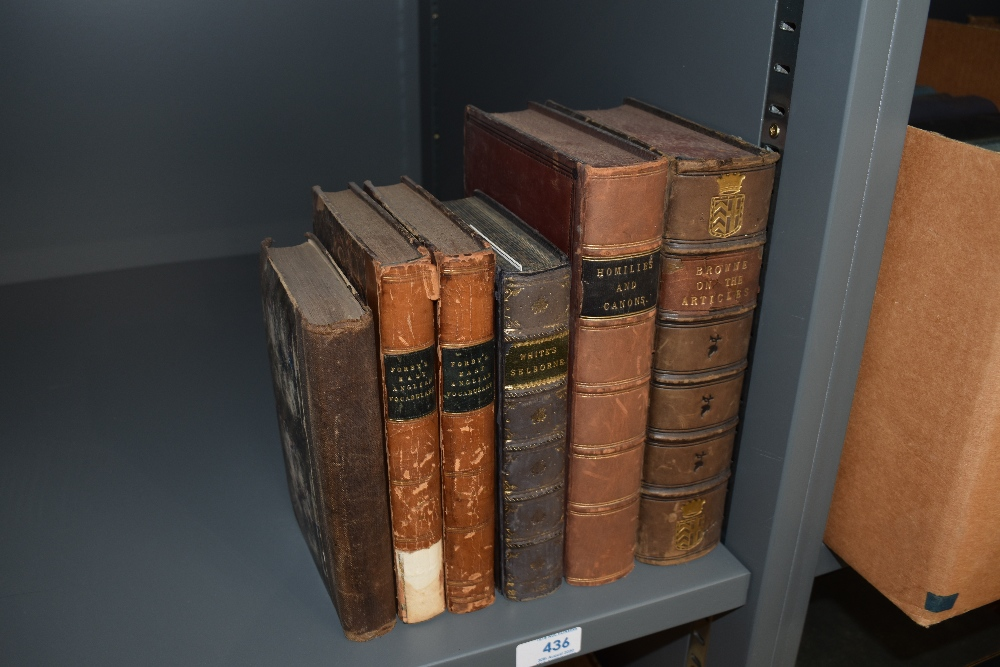Lot 436 - Antiquarian miscellany. A small carton. Includes; White, Rev. Gilbert - The Natural History of