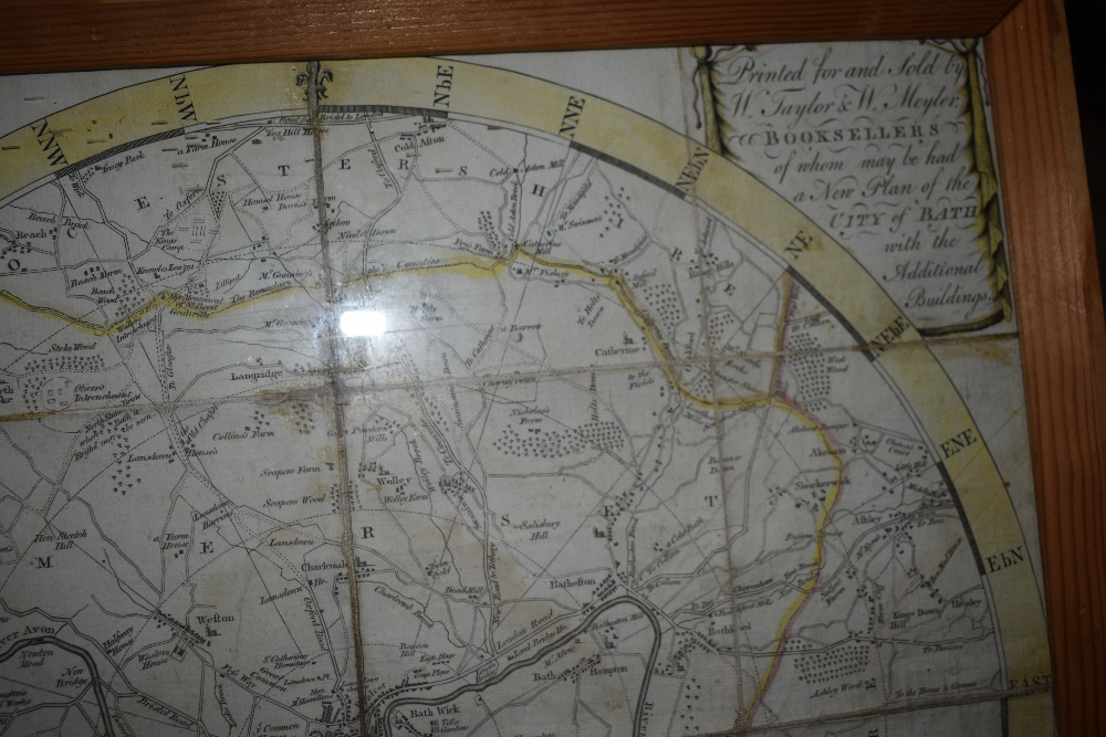 Lot 455 - A late 18th Century Map of the City of Bath and Environs. Dated 1787. In 16 folding sections,
