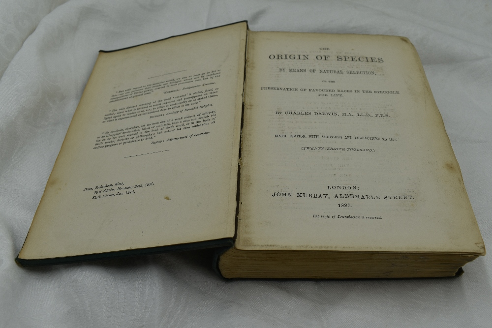 Lot 401 - Darwin, Charles. The Origin of Species by Means of Natural Selection, or the Preservation of