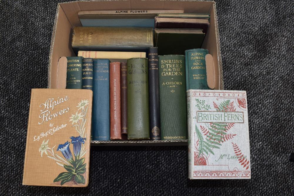 Lot 443 - Botany and Gardening. A carton. Includes; Mrs. Lankester - British Ferns. London: 1903; Takeda, H. -