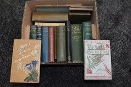 Botany and Gardening. A carton. Includes; Mrs. Lankester - British Ferns. London: 1903; Takeda, H. -