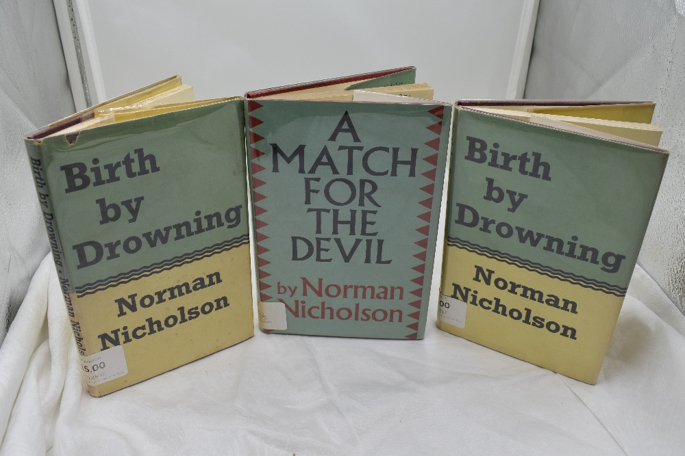 Lot 423 - Norman Nicholson. A selection, includes; A Match for the Devil. London: Faber and Faber ltd. 1955.