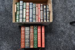 The Easton Press/Franklin Library. A carton. Collector's Editions bound in genuine leather. Some