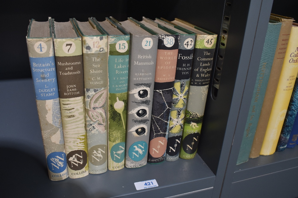 Lot 421 - New Naturalist. A small selection, all in dust wrapper's. Includes; The World of Spiders (1958);