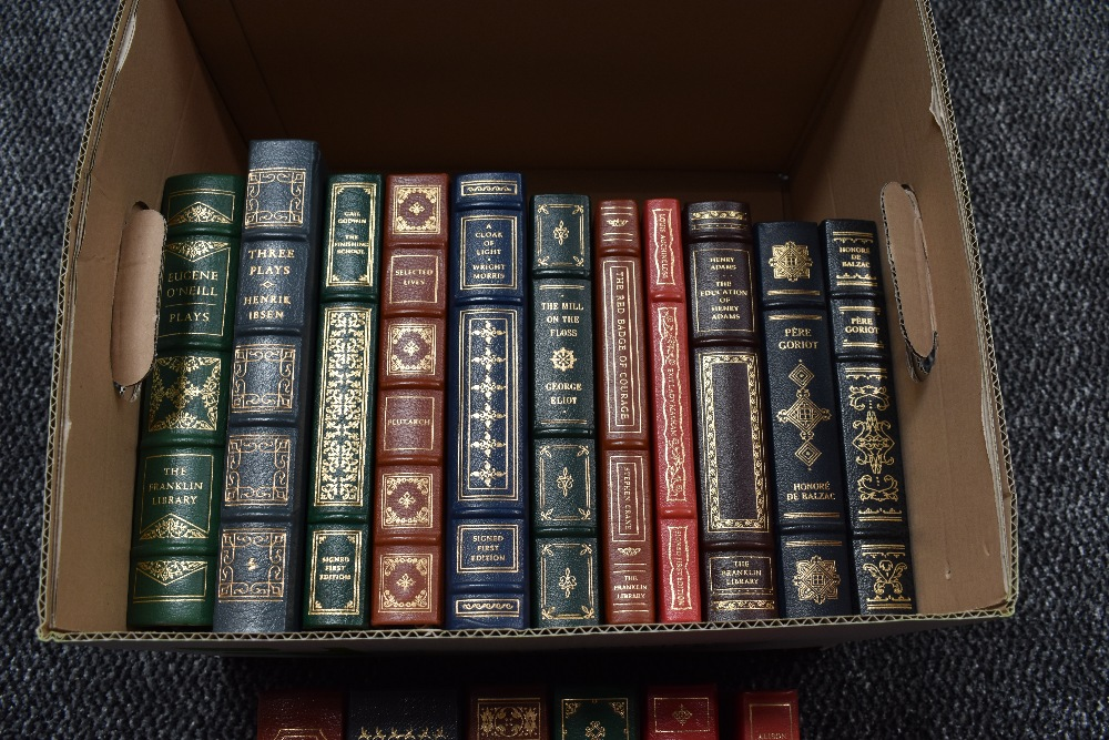 Lot 451 - The Easton Press/Franklin Library. A carton. Collector's Editions bound in genuine leather. Some