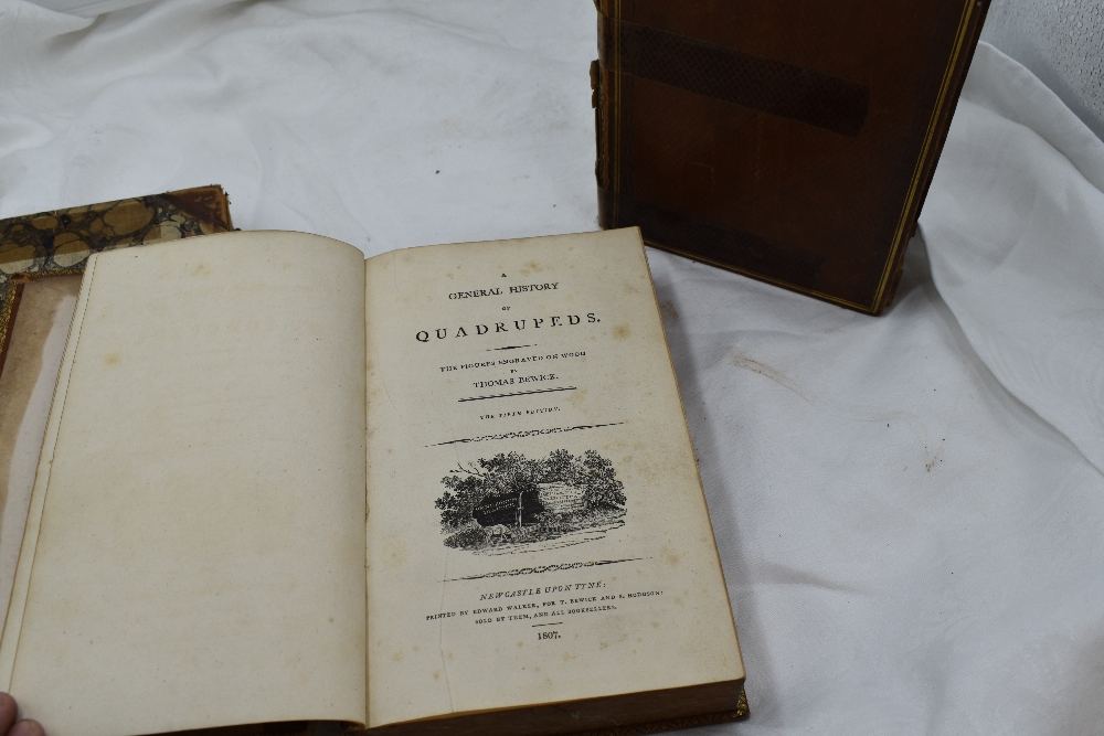 Lot 437 - Antiquarian. Thomas Bewick. Comprising; A General History of Quadrupeds. Newcastle: 1807, 5th