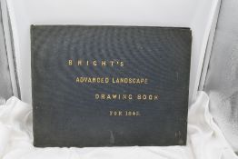 Art. Bright's Advanced Landscape Drawing Book for 1845. No title page or publishing information. A
