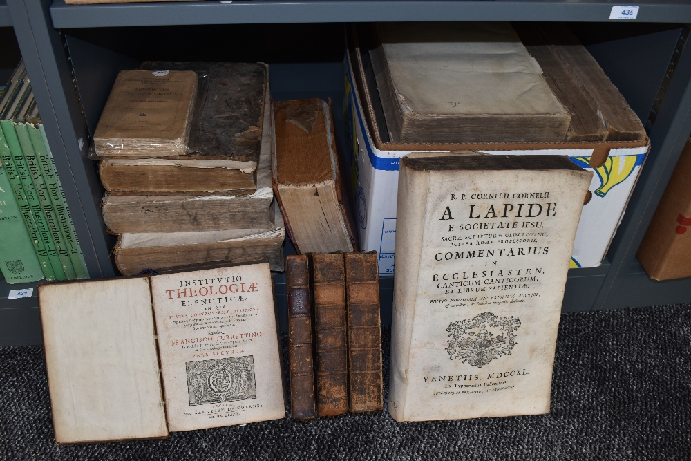Lot 417 - Antiquarian Odd Volumes. A large selection, includes; Francisco Turrettino - Institutio Theologiae