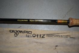 An Olympic 3.6 metre 3piece Graphite fishing rod No9112 with sleeve