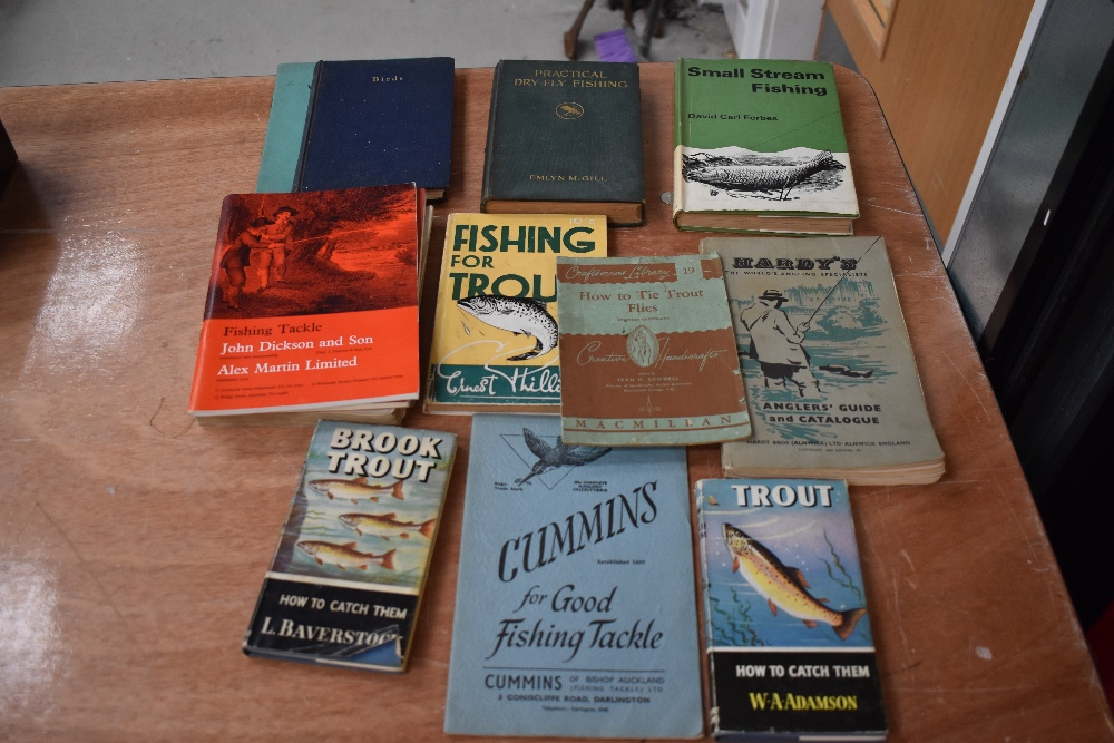 Lot 362 - Twelve Sporting /fishing related books and catalogues, including Hardy's Anglers Guide 64th Edition
