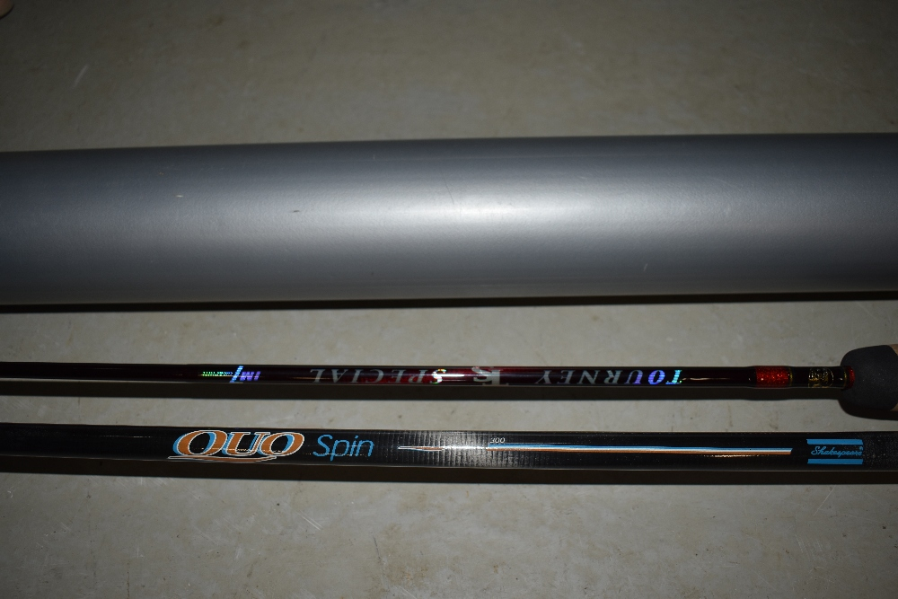 Lot 353 - Two fishing rods, a Quo spin and a Tourny TS Sprciall Bass rod