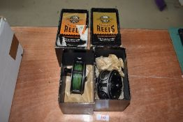Two J W Young fly fishing reels, Pridex and Beaudex in original boxes