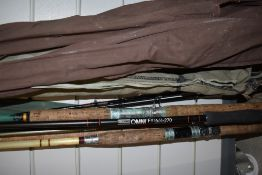 A selection of fishing rods