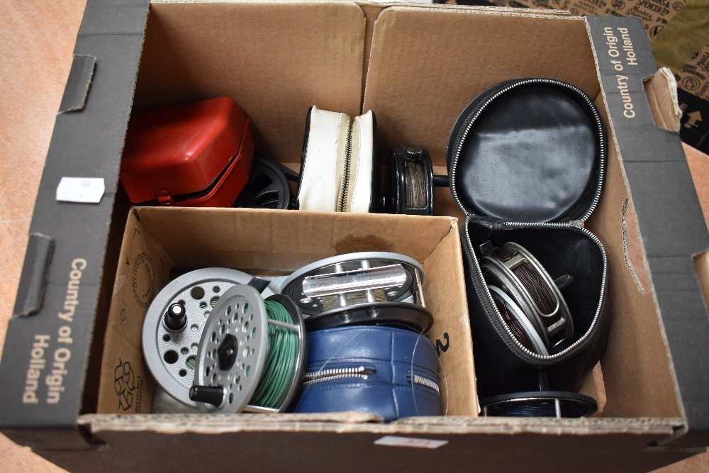 Lot 371 - An assortment of fly reels, including J W Young, Shakespeare and Olympic 420