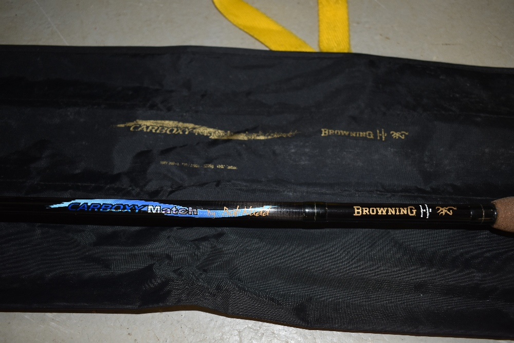 Lot 357 - A Browning Carbon 13ft Match rod with sleeve