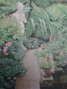 A Ltd Ed print, Aldama, garden study, numbered 165/220, framed and glazed, 33 x 28cm