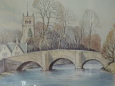 A watercolour, Neil Taylor, River Kent, Kendal, signed and dated (19)77 and attributed verso, framed