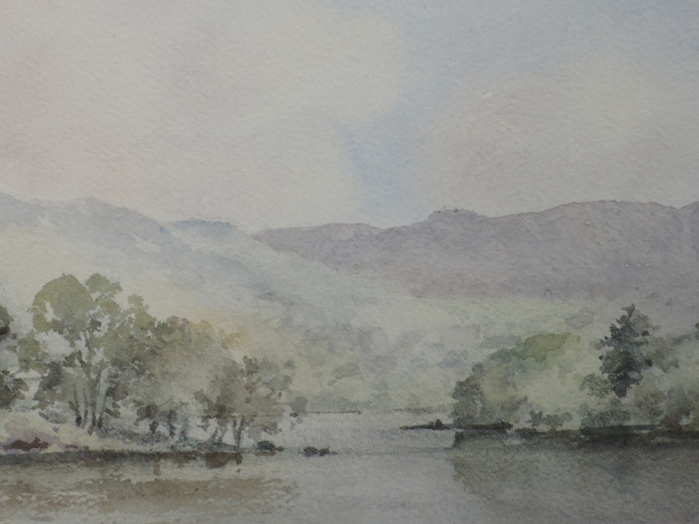 Lot 368 - A watercolour, David H Harrison, lake landscape, signed, framed and glazed, 33 x 50cm