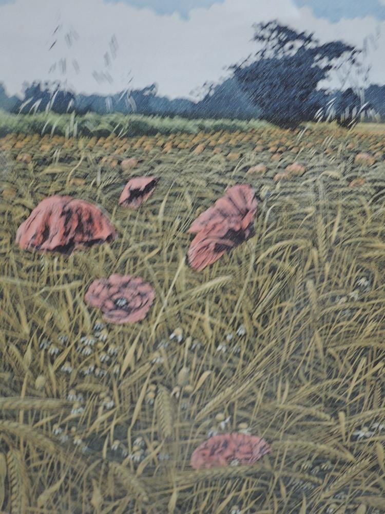 Lot 370 - A Ltd Ed print, after Graham, Wild Poppies, numbered 88/200, indistinctly signed, framed and glazed,
