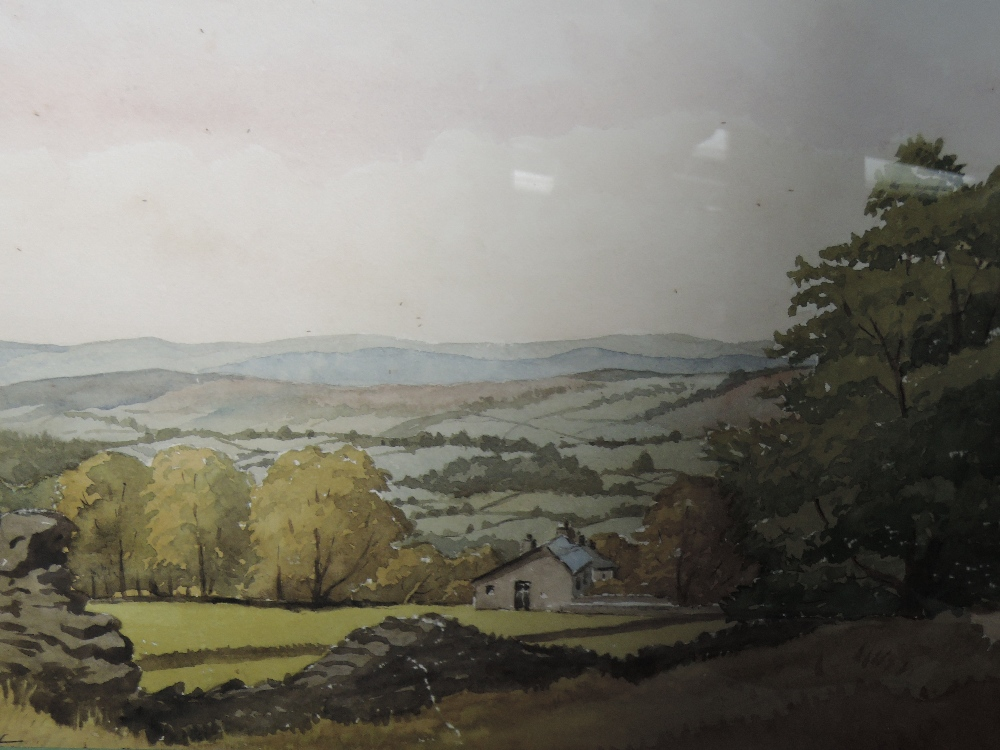Lot 355 - Two watercolours, N J Hepworth, country landscapes, signed, one dated (19)75, framed and glazed,