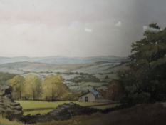 Two watercolours, N J Hepworth, country landscapes, signed, one dated (19)75, framed and glazed,