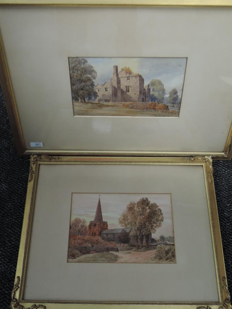 Lot 321 - A watercolour, W H Sugden, Barden, ruins, signed and dated 1887,framed and glazed, 47 x 64cm, a