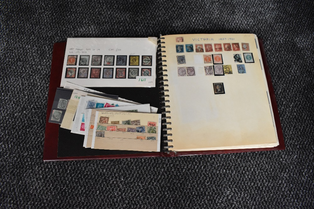 Lot 836 - A GB mint & used Stamp Album, Victoria to Elizabeth II including Penny Black, Edward VII 2/6 to 5s