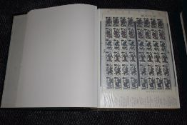 A large album of GB Part Sheets of Stamps 1966 to 1970, with all flaws noted on each page