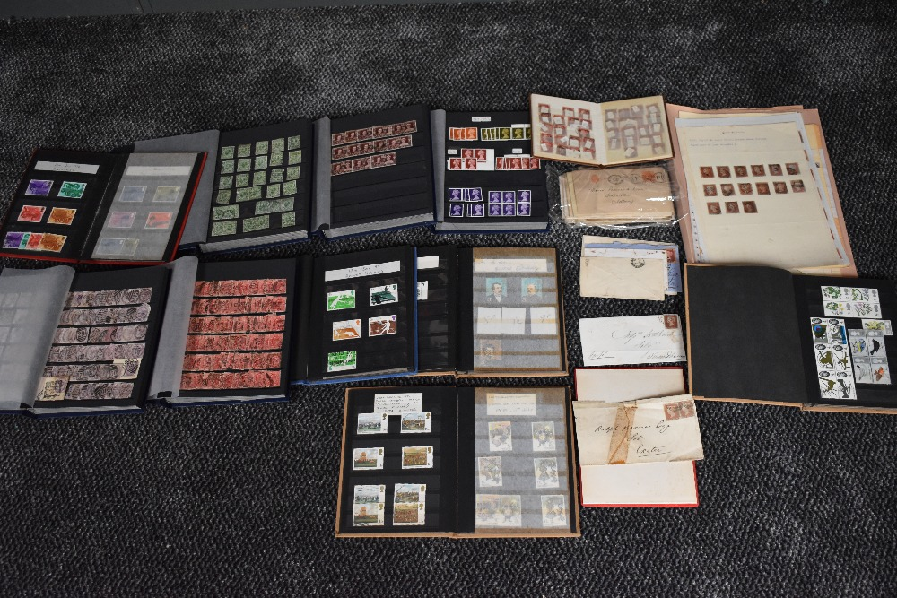 Lot 824 - A GB Stamp collection, Victoria to Elizabeth II in albums and folders, along with early covers,