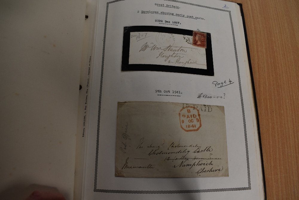 Lot 812 - An album of Victoria to Elizabeth II GB Stamps, Penny Blacks, 2 Penny Blues, early Covers, Penny Red