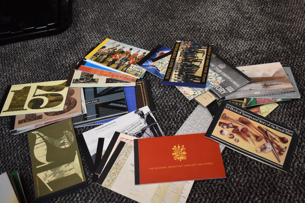 Lot 806 - A Large Collection of GB Presentation Packs, Stamp Booklets & Prestige Booklets