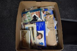 A box of World Stamps & Covers, mainly used