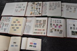 A large collection of Commonwealth Stamps in ten albums, mint & used, along with a Commonwealth