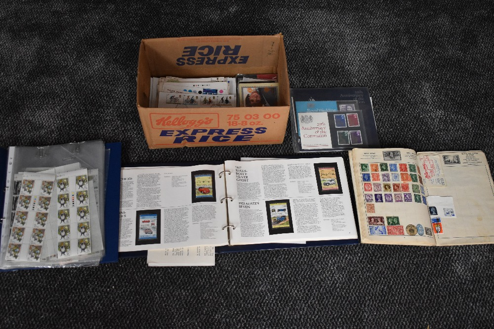 Lot 807 - A Collection of GB Stamps & Covers including Presentation Packs & Part Sheets of Stamps