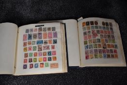 Two albums of mint & used World Stamps, very large number of stamps in good condition