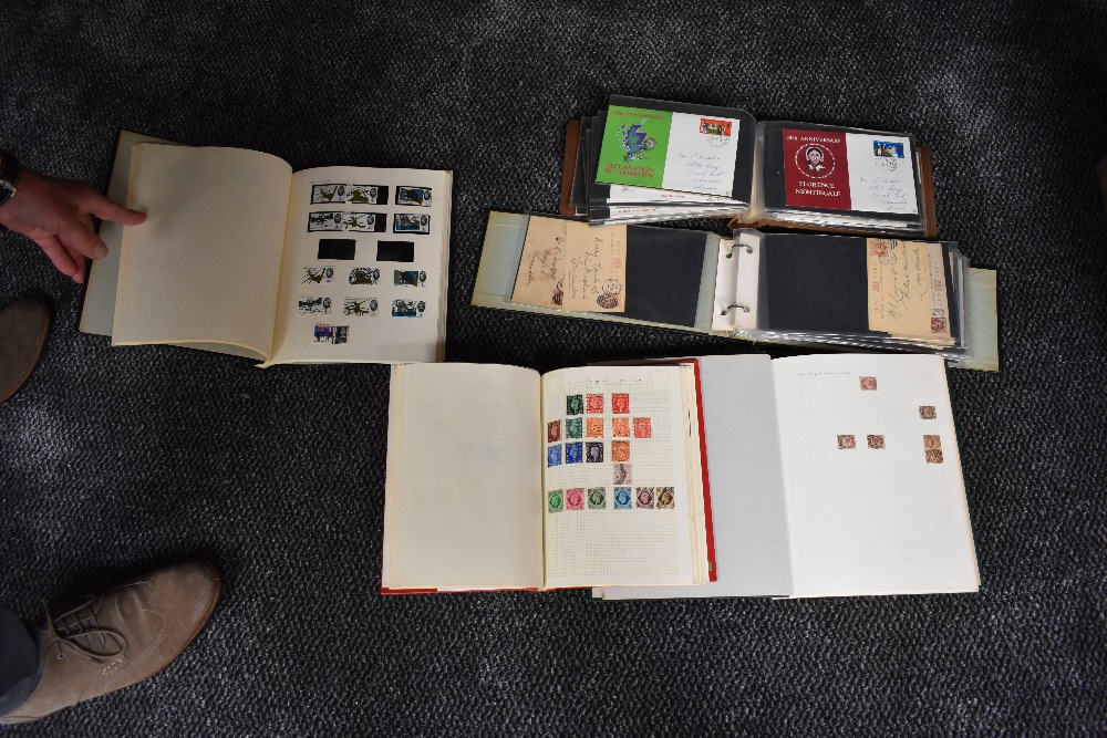 Lot 834 - Five albums of mainly GB Stamps & Covers, Victoria to Elizabeth II, mint & used, good Victoria