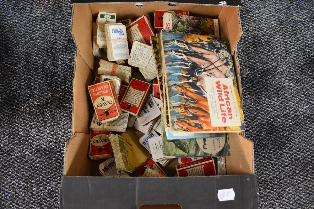 Lot 852 - A large collection of Cigarette and Trade Cards, in card box