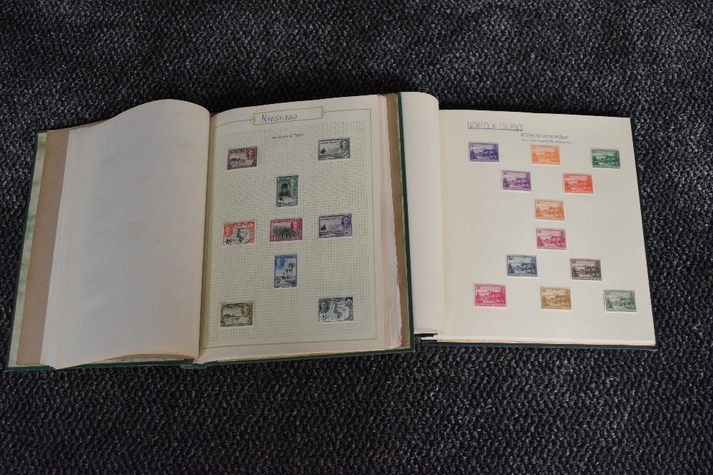 Lot 828 - Two albums of mainly mint George VI Commonwealth stamps including short sets, colour changes, new