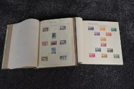 Two albums of mainly mint George VI Commonwealth stamps including short sets, colour changes, new