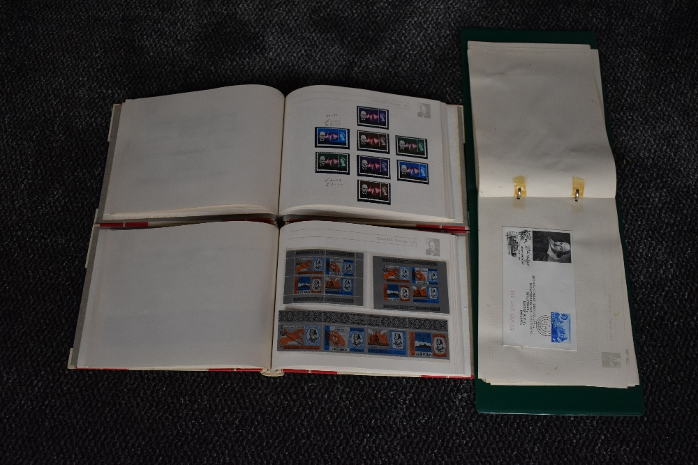 Lot 817 - Two Souvenir Stamp Albums of Churchill 1965 Stamps, mint, along with Souvenir Stamp Album of
