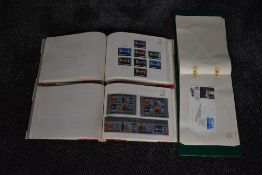 Two Souvenir Stamp Albums of Churchill 1965 Stamps, mint, along with Souvenir Stamp Album of