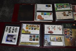 A Collection of GB First Day Covers 1994 to 2019 in 7 Royal First Day Cover Albums, 2000 to 2019